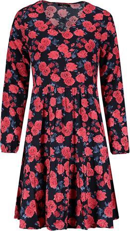 Sublevel - Ladies Allover Dress - Keskipitkä mekko - Naiset - Musta punainen