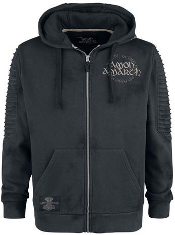 Amon Amarth - EMP Signature Collection - Vetoketjuhuppari - Miehet - Tummanharmaa musta
