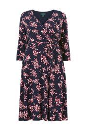 Lauren Ralph Lauren Curve Mekko Printed Matte Jrsy Dress