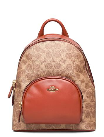 Coach Carrie Backpack Womens Bags Reppu Laukku Beige Coach B4NQ4