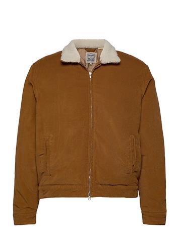 Levi's Made & Crafted Lmc Quilted Zip Jacket Lmc Dar Farkkutakki Denimtakki Ruskea Levi's Made & Crafted NEUTRALS