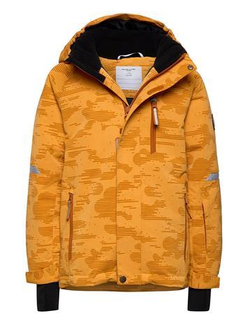 Polarn O. Pyret Jacket Padded Solid School Outerwear Snow/ski Clothing Snow/ski Jacket Keltainen Polarn O. Pyret ROCK