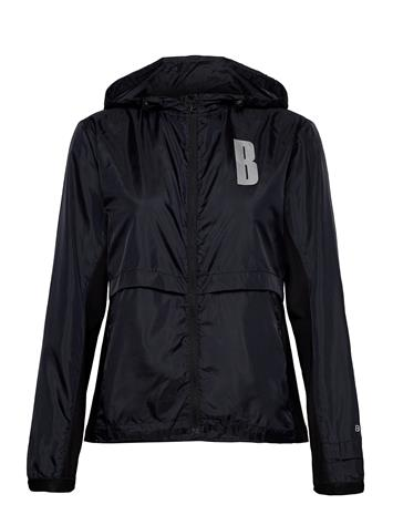 Björn Borg W Jacket Night Night Outerwear Sport Jackets Musta Björn Borg BLACK BEAUTY