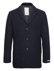 Les Deux Montgomery Wool Coat Villakangastakki Pitkä Takki Sininen Les Deux DARK NAVY