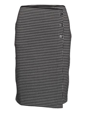 Gerry Weber Skirt Knitwear Polvipituinen Hame Musta Gerry Weber BLACK/ECRU/WHITE PATCH