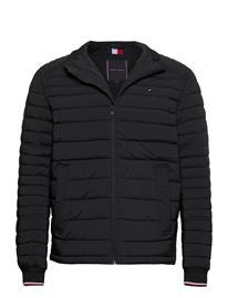 Tommy Hilfiger Stretch Quilted Jacket Vuorillinen Takki Topattu Takki Musta Tommy Hilfiger BLACK
