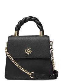 DKNY Bags Carol Top Flap Bags Small Shoulder Bags - Crossbody Bags Musta DKNY Bags BLK/GOLD