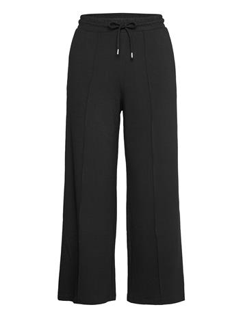 Selected Femme Slfjody Mw Wide Ankle Sweat Pant B Leveälahkeiset Housut Musta Selected Femme BLACK