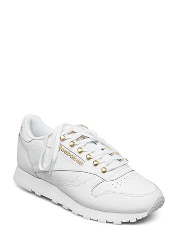 Reebok Classics Cl Lthr Matalavartiset Sneakerit Tennarit Valkoinen Reebok Classics WHITE/MAGOLD/WHITE