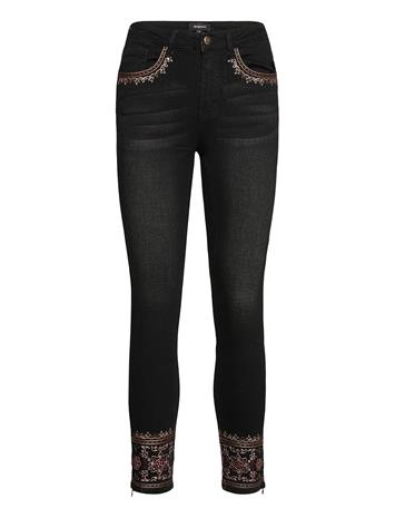 Desigual Denim Floyer Skinny Farkut Sininen Desigual BLACK DENIM