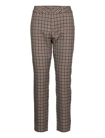 Pulz Jeans Pzclara Pant Slimfit Housut Pillihousut Harmaa Pulz Jeans STONE GRAY