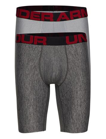 Under Armour Ua Tech 9in 2 Pack Bokserit Harmaa Under Armour MOD GRAY LIGHT HEATHER