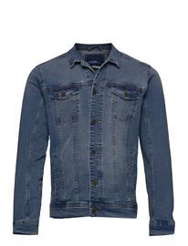 Blend Outerwear - Noos Farkkutakki Denimtakki Sininen Blend DENIM MIDDLE BLUE