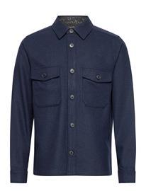 Calvin Klein Wool Shirt Jacket Paita Rento Casual Sininen Calvin Klein CALVINNAVY
