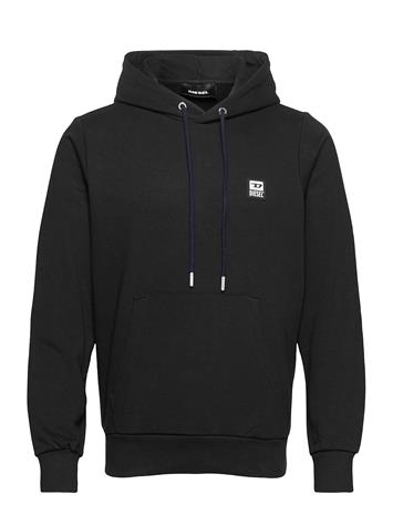 Diesel Men S-Girk-Hood-K21 Sweat-Shirt Huppari Musta Diesel Men BLACK BLACK BLACK