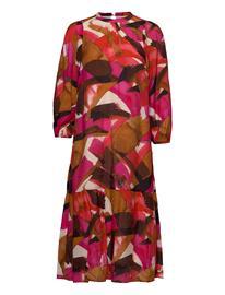 InWear Poppyiw Dress Polvipituinen Mekko Vaaleanpunainen InWear PINK WATERCOLOUR STROKES