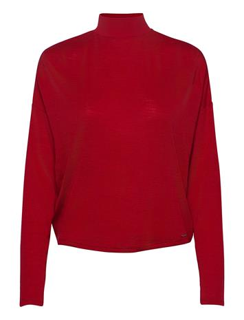 GUESS Jeans Chahida Top T-shirts & Tops Knitted T-shirts/tops Punainen GUESS Jeans RED ATTITUDE