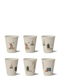 Liewood Gertrud Bamboo Cup 6-Pack Home Meal Time Cups & Mugs Beige Liewood HOLIDAY MIX