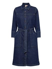 MOS MOSH Selby Denim Dress Polvipituinen Mekko Sininen MOS MOSH BLUE