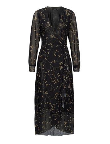 Soaked in Luxury Slconsuela Dress Polvipituinen Mekko Musta Soaked In Luxury BLACK LEAFY TWIG
