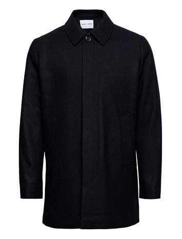 Samsä¸e Samsä¸e Kenpo X Coat 12825 Villakangastakki Pitkä Takki Sininen Samsä¸e Samsä¸e SKY CAPTAIN