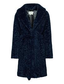 By Malina Adrielle Faux Fur Coat Outerwear Faux Fur Sininen By Malina INDIGO BLUE