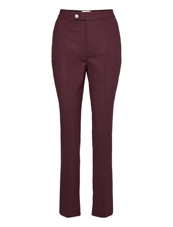Tommy Hilfiger Icon Ryder Wool Pant Suoralahkeiset Housut Punainen Tommy Hilfiger DEEP BURGUNDY