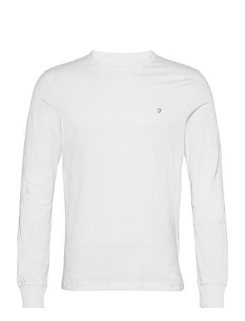 Farah Worthington Ls Tee T-shirts Long-sleeved Valkoinen Farah WHITE