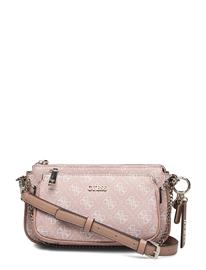 GUESS Arie Double Pouch Crossbody Bags Small Shoulder Bags - Crossbody Bags Vaaleanpunainen GUESS ROSE