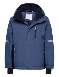 Polarn O. Pyret Jacket Padded Solid School Outerwear Snow/ski Clothing Snow/ski Jacket Sininen Polarn O. Pyret ENSIGN BLUE