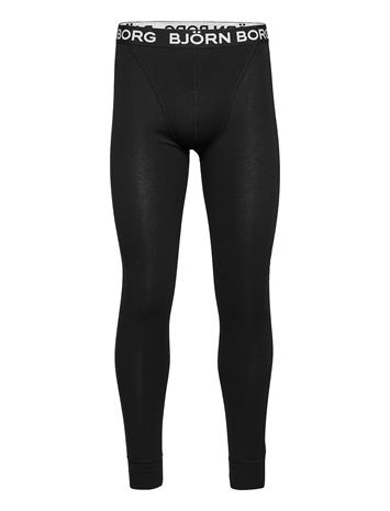Björn Borg Long Johns Leo Seasonal Solids Base Layer Bottoms Musta Björn Borg BLACK BEAUTY