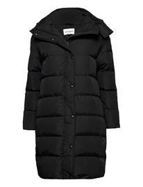 Marimekko Lumiaura Solid Coat Topattu Pitkä Takki Musta Marimekko BLACK