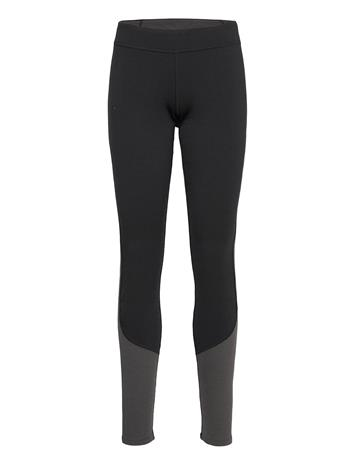 Bergans Cecilie Wool Tights Base Layer Bottoms Musta Bergans BLACK / SOLID CHARCOAL