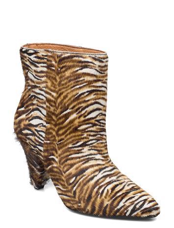 Samsä¸e Samsä¸e Myrassa Boot Low 12876 Shoes Boots Ankle Boots Ankle Boot - Heel Monivärinen/Kuvioitu Samsä¸e Samsä¸e TIGER PONY