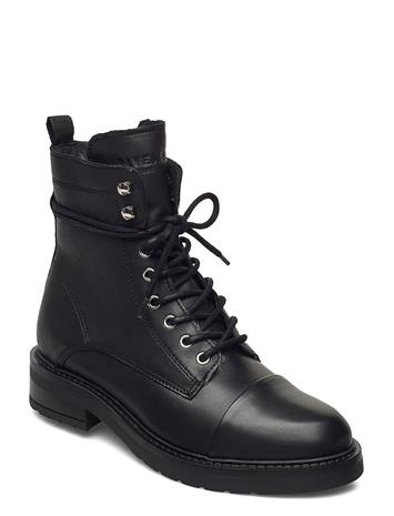 Pavement Charley Wool Shoes Boots Ankle Boots Ankle Boot - Flat Musta Pavement BLACK GARDA SILVER