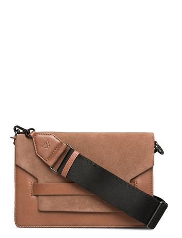 Markberg Arabella Crossbody Bag, Ant. M Bags Small Shoulder Bags - Crossbody Bags Ruskea Markberg CARAMEL W/BLACK