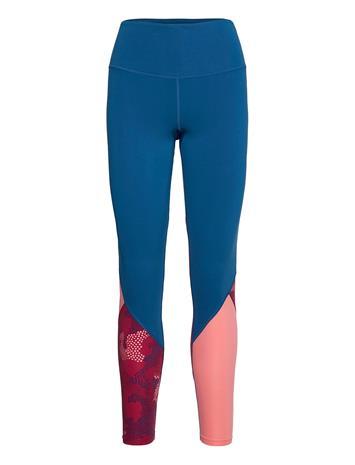 2XU Fitness Hi-Rise Stride Comp Tight-W Running/training Tights Sininen 2XU POSEIDON/BLOSSOM CAMO