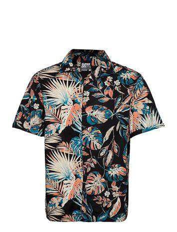 Superdry Ss Cut&Sew Hawaiian Shirt Lyhythihainen Paita Monivärinen/Kuvioitu Superdry HIGHLIGHT TROPICAL MIX