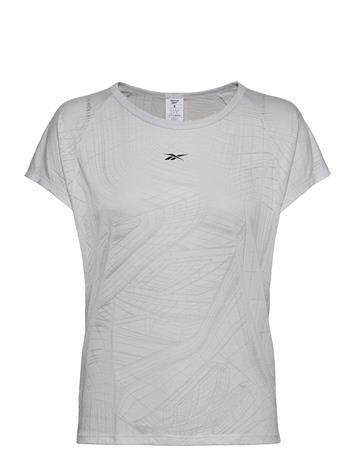 Reebok Performance Ts Burnout Tee T-shirts & Tops Short-sleeved Harmaa Reebok Performance PORCEL