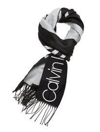 Calvin Klein Scarf 65x195 Huivi Musta Calvin Klein BLACK