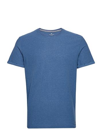 Tom Tailor T-Shirt With T-shirts Short-sleeved Sininen Tom Tailor AFTER DARK BLUE