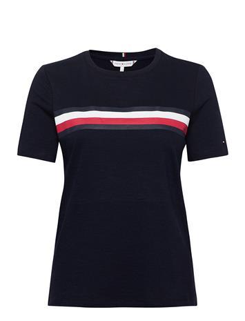 Tommy Hilfiger Regular C-Nk Global Stripe Tee T-shirts & Tops Short-sleeved Sininen Tommy Hilfiger DESERT SKY