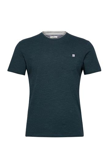 Tom Tailor Fineliner T- T-shirts Short-sleeved Vihreä Tom Tailor DARK GREEN THIN STRIPE