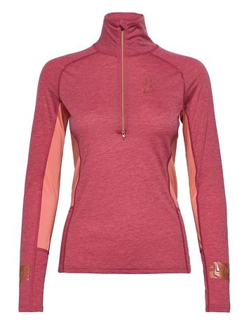 Johaug Aerial Woolmix Half Zip T-shirts & Tops Long-sleeved Monivärinen/Kuvioitu Johaug CABER