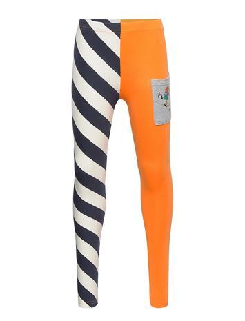 Pippi Lä¥ngstrump Skew Stripes Leggings Leggingsit Sininen Pippi Lä¥ngstrump BLUE
