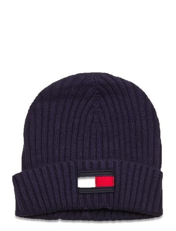 Tommy Hilfiger Big Flag Beanie Accessories Headwear Hats Sininen Tommy Hilfiger TWILIGHT NAVY