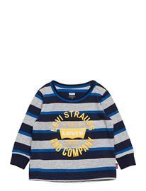 Levi's Lvb Ls Striped Tee T-shirts Long-sleeved T-shirts Monivärinen/Kuvioitu Levi's GRAY HEATHER