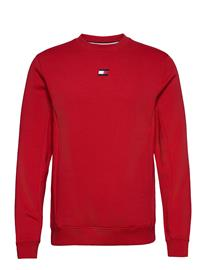 Tommy Sport Blocked Fleece Crew T-shirts Long-sleeved Punainen Tommy Sport PRIMARY RED