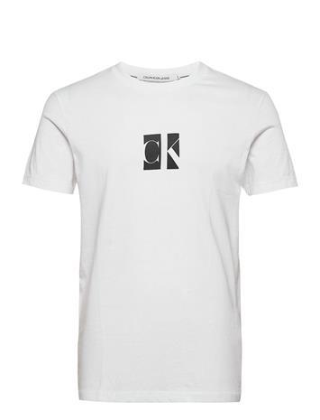 Calvin Klein Jeans Small Center Ck Box Tee T-shirts Short-sleeved Valkoinen Calvin Klein Jeans BRIGHT WHITE