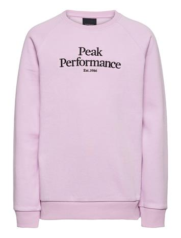 Peak Performance Jr Original Crew Coniferous Green Svetari Collegepaita Vaaleanpunainen Peak Performance COLD BLUSH, Lastenvaatteet